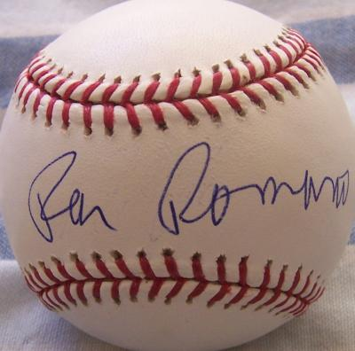 Ray Romano autographed MLB baseball