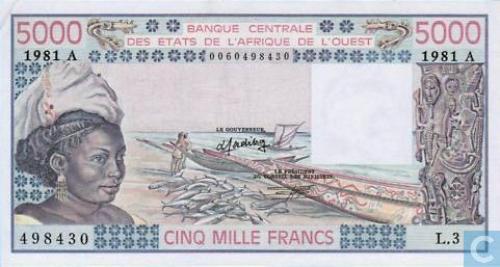 West Afr Stat. A 5000 Francs