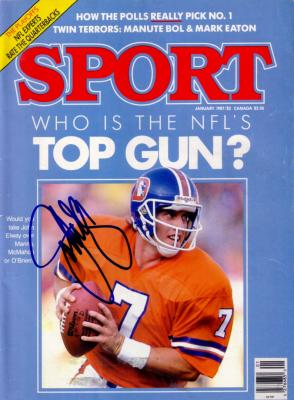 John Elway autographed Denver Broncos 1987 Sport Magazine
