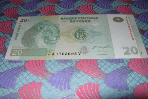 CONGO- ZAIRE (Kinshasa- 20 francs-2003