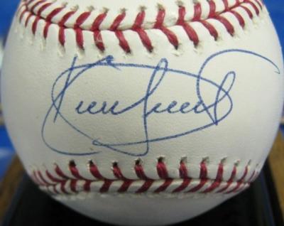 Kirby Puckett autographed MLB baseball (Mounted Memories)