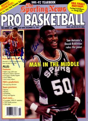 Otis Thorpe autographed Houston Rockets magazine cover