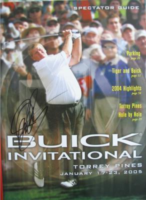 John Daly autographed 2005 PGA Tour Buick Invitational program