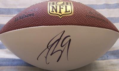 Drew Brees autographed mini NFL white panel football