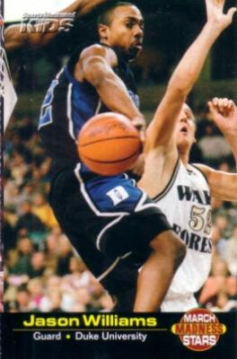 Jason Williams Duke 2001 Sports Illustrated for Kids March Madness card