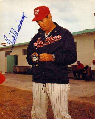 Ted Williams autographed Washington Senators 8x10 photo