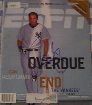 Jason Giambi autographed New York Yankees 2002 ESPN Magazine