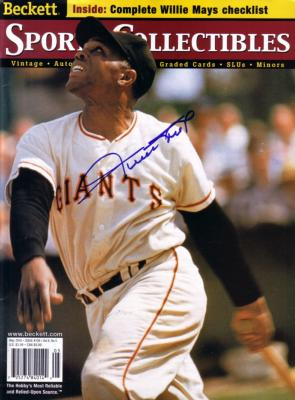 Willie Mays autographed Giants Beckett Sports Collectibles magazine