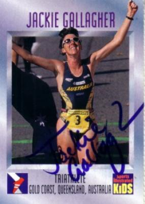 Jackie Gallagher (triathlon) autographed 1997 Sports Illustrated for Kids card
