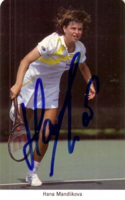 Hana Mandlikova autographed 1987 Fax Pax tennis card