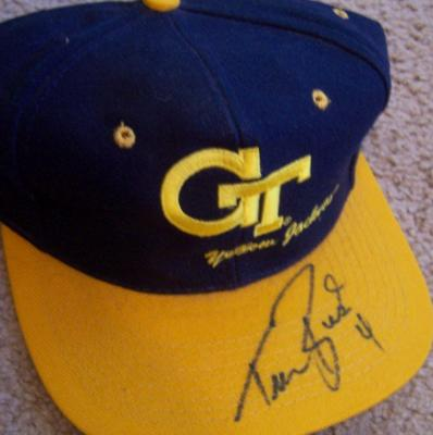 Travis Best autographed Georgia Tech Yellow Jackets cap