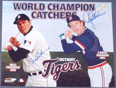 Bill Freehan & Lance Parrish autographed 11x14 Tigers World Champion Catchers photo