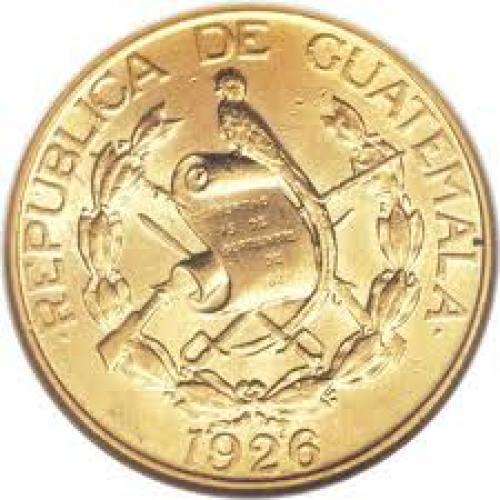 Coins; Guatemala: Republic gold 5 Quetzales 1926