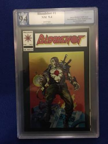Bloodshot #1 by Valiant Comics. PGX graded 9.4