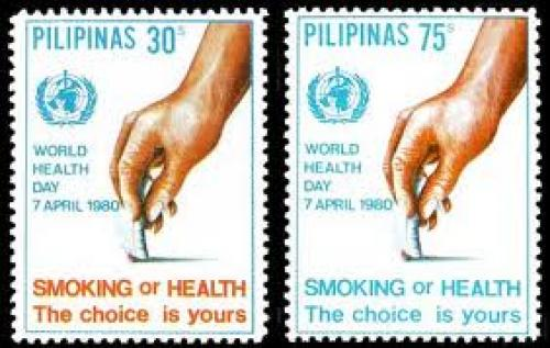Anti Smoking Stamps; Year: 1980; World Health Day