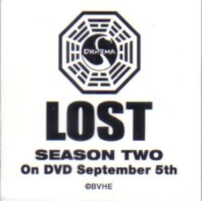 LOST Season Two DVD promo Dharma logo magnet