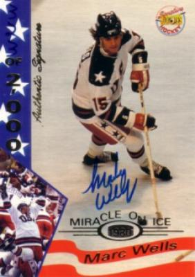 Marc Wells certified autograph 1980 Miracle on Ice Signature Rookies card