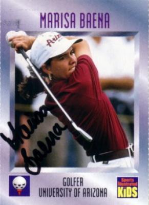 Marisa Buena autographed Arizona 1997 Sports Illustrated for Kids Rookie Card