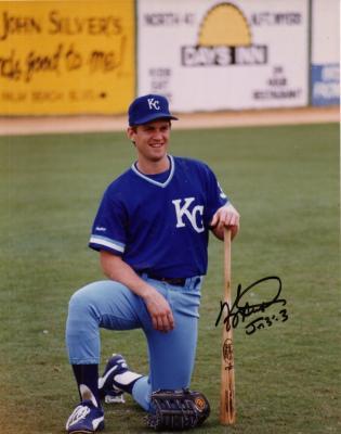 Kevin Seitzer autographed 8x10 Royals photo