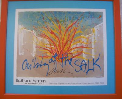 Dale Chihuly autographed lithograph matted & framed (2010 limited edition)