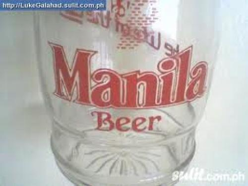 "1980s ""MANILA BEER"" Souvenir Beer Glass"