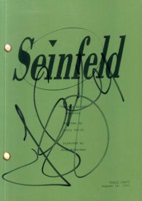Jerry Seinfeld autographed The Big Salad mini script