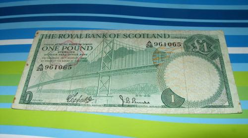 Scotland Royal Bank, 1 pound, 1969