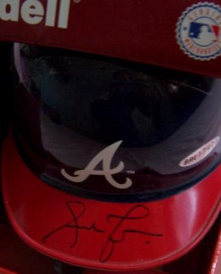 Andruw Jones autographed Atlanta Braves mini helmet UDA