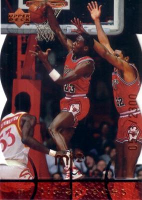 Michael Jordan 1998 Upper Deck MJx MJ Timepieces insert card #4 MINT #573/2300