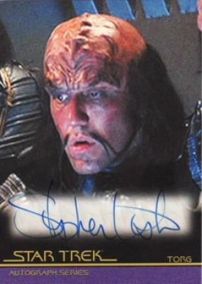 Stephen Liska Star Trek certified autograph card