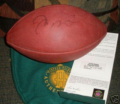 Joe Montana autographed Wilson NFL game football (UDA)
