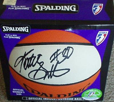 Katie Smith autographed WNBA indoor/outdoor basketball