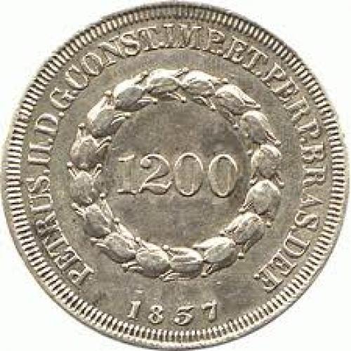 Coins;  Brazil 1200 reis Silver 917 coin obverse