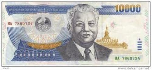 Banknotes;  Laos; 10000 Kip; 2003 ;Banknote Currency