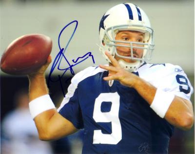 Tony Romo autographed Dallas Cowboys 8x10 photo