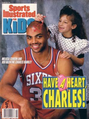 Charles Barkley Philadelphia 76ers 1991 Sports Illustrated for Kids magazine with poster