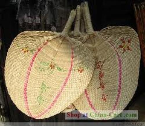 Crafts; Chinese Handmade Straw Fan