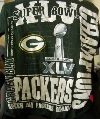 Green Bay Packers Super Bowl 45 Champions T-shirt NEW