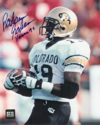 Rashaan Salaam autographed Colorado 8x10 photo inscribed Heisman 94