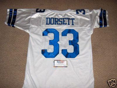 Tony Dorsett autographed Dallas Cowboys authentic jersey (TriStar)