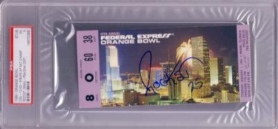 Raghib Rocket Ismail autographed 1991 Orange Bowl ticket stub (PSA/DNA)