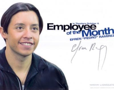 Efren Ramirez autographed Employee of the Month 8x10 photo