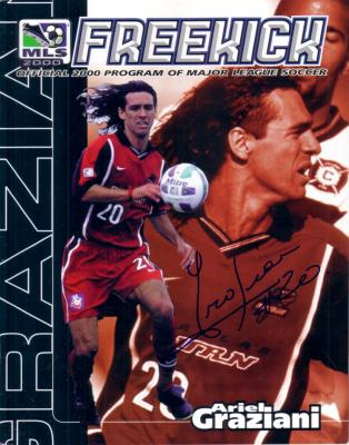 Ariel Graziani autographed MLS Dallas Burn program