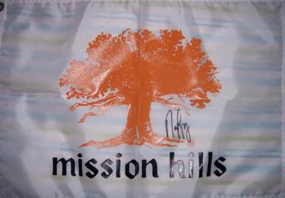 Nancy Lopez (LPGA) autographed Mission Hills golf pin flag