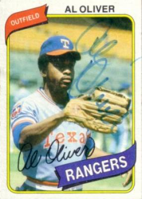 Al Oliver autographed Texas Rangers 1980 Topps card