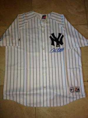 Andy Pettitte autographed New York Yankees jersey (Steiner)