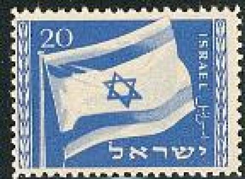 National flag 1v NO TAB; Year: 1949