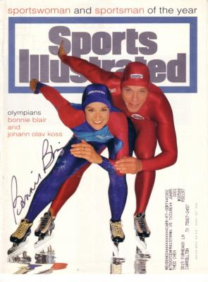 Bonnie Blair autographed speed skating 1994 Sports Illustrated cover