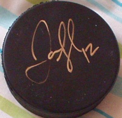 Jarome Iginla autographed hockey puck