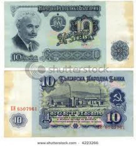 Banknotes; banknote of Bulgaria, 10 leva, 1974